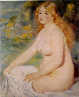 金髪の浴女